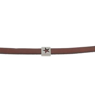 Coulissant ETOILE VIDE - Lanière de 10 mm - ARGENT VIEILLI