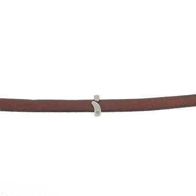 Coulissant POINT VIRGULE - Lanière de 10 mm - ARGENT VIEILLI