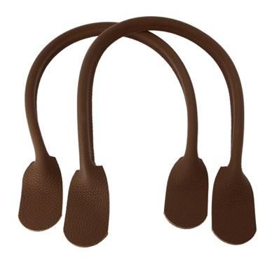 Paire de anses en cuir pour sac à main - CHOCOLAT - Longueur 62 cm