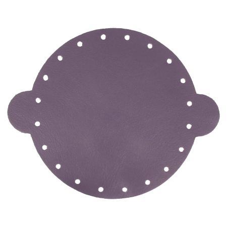 Cuir déja coupé pour faire une bourse en cuir VIOLET - Diamètre 25 cm