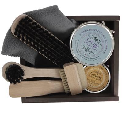 Coffret Plumier entretien du cuir