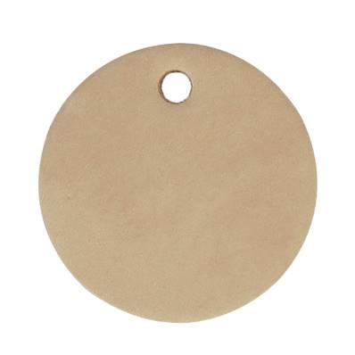 Découpe ROND pour porte clés en cuir naturel à personnaliser