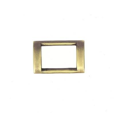 Passant rectangulaire plat - LAITON VIEILLI SATINÉ - 20x13 mm