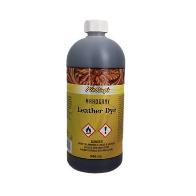 Teinture pour cuir FIEBING'S Leather dye - ACAJOU - MAHOGANY - bidon de 946ml
