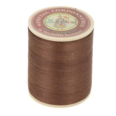 Fil Spécial Cordonnerie 100% polyester - Bobine 750 m - MARRON 215
