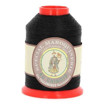 Fil Spécial Maroquinerie polyester coton - 28/4 - 0,52 mm - NOIR