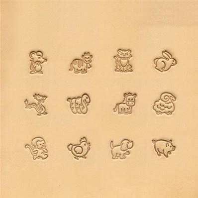 Jeu de matoir animaux dessins animés 12 pièces - 88552