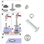 Kit Oeillets à rouler et outil de pose - 5 mm - NICKELE