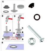 Kit Oeillets à rouler et outil de pose - 8 mm - VIEUX CUIVRE