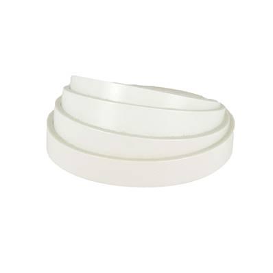 Lanière de cuir de collet - BLANC - Larg 15 mm - Long 100 cm