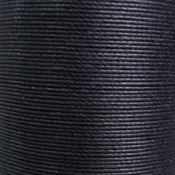 Cartonnette de 8m de fil de lin ciré MeiSi super fine M30 - 0,35 mm - NOIR - MS001