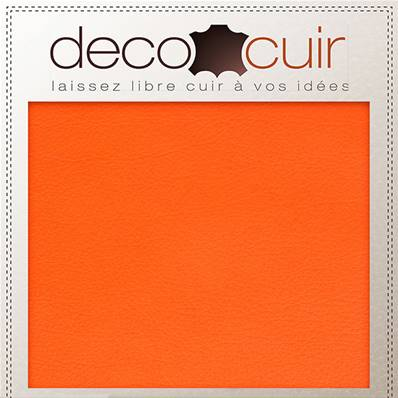 Morceau de cuir SWEET 2 - ORANGE - 15x20 cm - Ép 1 mm