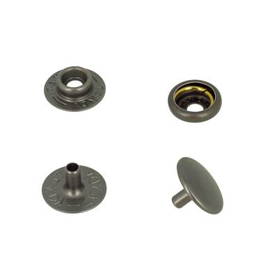 Lot de 10 boutons pression FORT en acier - CANON DE FUSIL MAT - TANDY LEATHER - LINE 24 : 15 mm