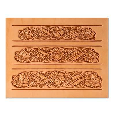 Calque réutilisable pour le transfert de motifs sur cuir - CEINTURE FLORAL #1