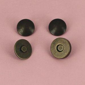 Top magnétique à riveter - LAITON VIEILLI - diam 18mm