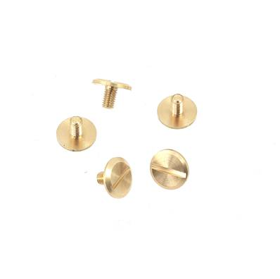 Lot de 5 vis 3x5 mm - Tête plate - LAITON