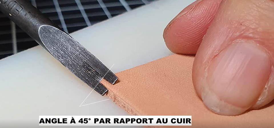 Utilisation et affûtage de l'abat-carre - Dictionnaire de la maroquinerie