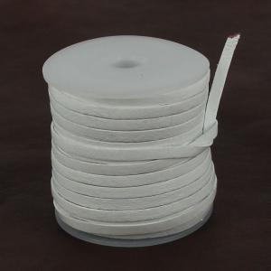 Lacet en cuir plat - largeur 4 mm - BLANC