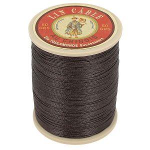 Bobine fil de lin au chinois câblé glacé - 332 - MARRON 901