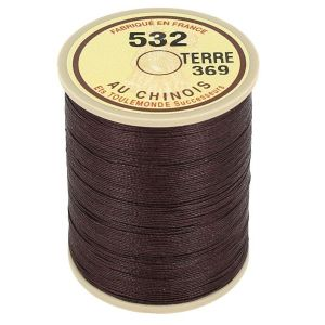 Bobine fil de lin au chinois câblé glacé - 532 - TERRE 369
