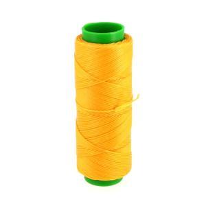 Bobine de fil polyester tressé et ciré - 100 mètres - diam 1 mm - JAUNE