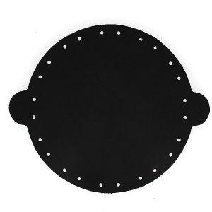 Cuir déja coupé pour faire une bourse en cuir NOIR - Diamètre 20 cm