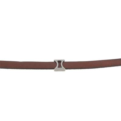 Coulissant SABLIER - Lanière de 10 mm - ARGENT VIEILLI