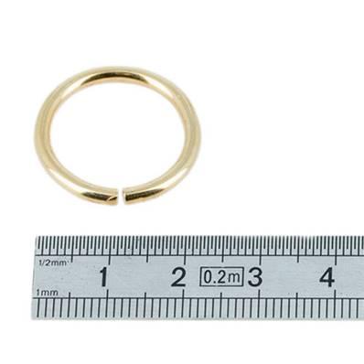 Anneau rond - acier DORE - 18 mm - Fil 2,5 mm