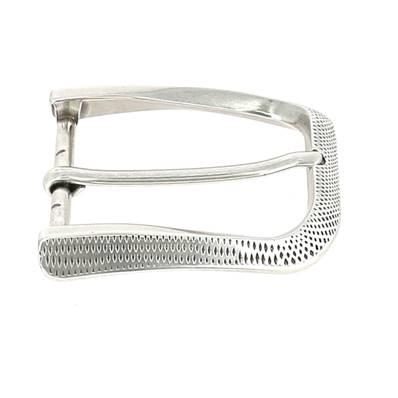 Boucle de ceinture FLO - ARGENT VIEILLI - 40 mm