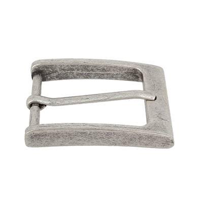 Boucle de ceinture TOM - ARGENT VIEILLI - 35 mm