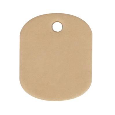 Découpe ELLIPSE pour porte clés en cuir naturel à personnaliser
