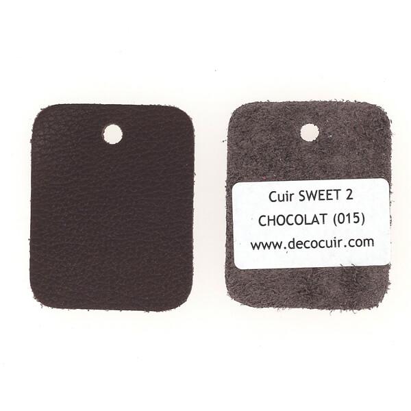 Un échantillon de cuir de vachette SWEET 2 - CHOCOLAT