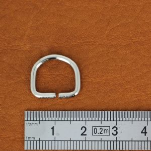 Anneau demi rond - acier NICKELÉ - 12x10x2 mm