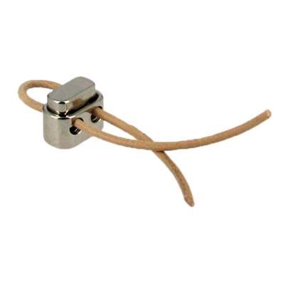 Fermoir stop lacet - NICKELE - Lacet de 2 mm