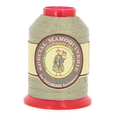 Fil Spécial Maroquinerie polyester coton - 28/3 - 0,45 mm - GRIS