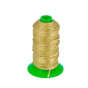 Bobine de 70 m de fil polyester tressé et poissé - diam 1 mm - OR
