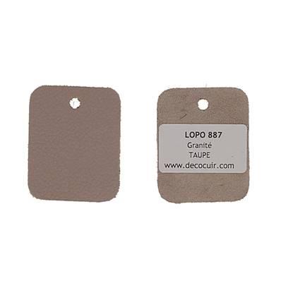 Un échantillon de cuir GRANITE - TAUPE