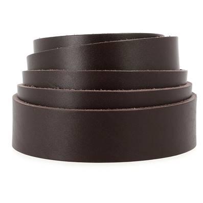 Lanière de cuir de collet - BORDEAUX - Larg 19 mm - Long 120 cm