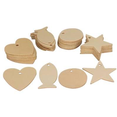 Lot de 40 découpes pour GRAND porte clés en cuir naturel à personnaliser