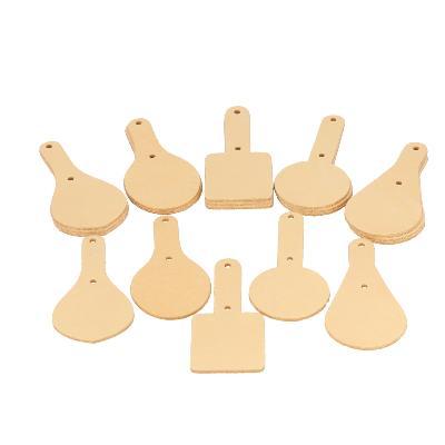 Lot de 20 découpes pour porte clés en cuir naturel à personnaliser