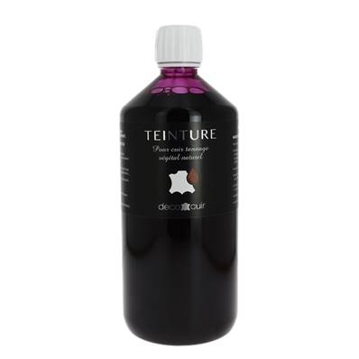 Teinture base aqueuse Deco Cuir - ROSE FUCHSIA - 1 litre