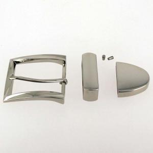 Boucle de ceinture 3 pièces - NICKELE - 40 mm