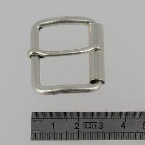 Boucle à rouleau à ardillon - ARGENT VIEILLI - 30 mm