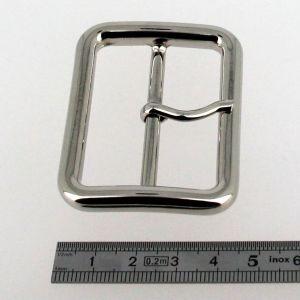 Boucle double à ardillon - NICKELE - 50 mm