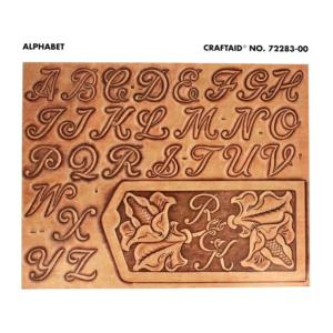 Calque réutilisable pour le transfert de motifs sur cuir - ALPHABET 25mm