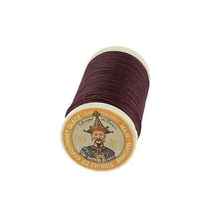 """Cordonnet 100% polyester """"Au Chinois"""" - Bobine de 30 mètres - BORDEAUX 453"""