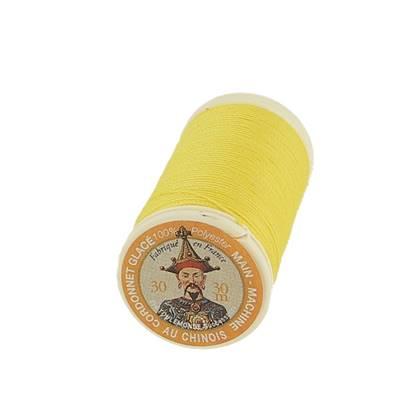 """Cordonnet 100% polyester """"Au Chinois"""" - Bobine de 30 mètres - JAUNE 350"""