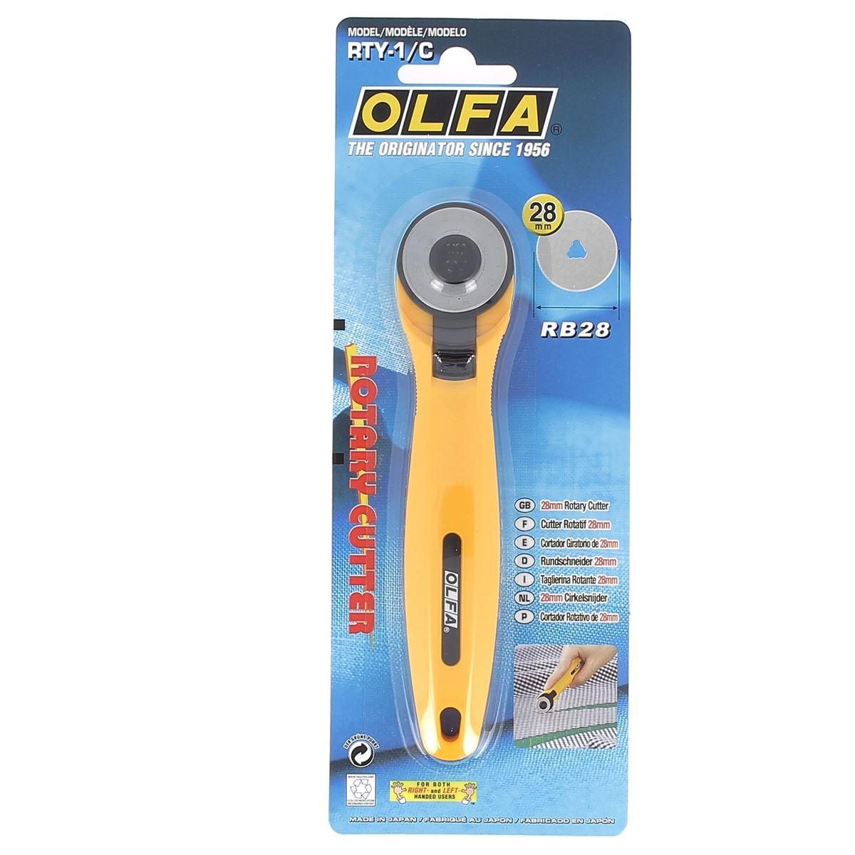 Cutter rotatif OLFA - diamètre 28 mm - RTY-1G