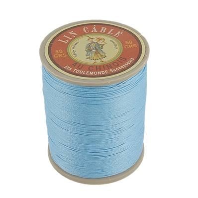 Bobine fil de lin au chinois câblé glacé - 332 - TURQUOISE 677