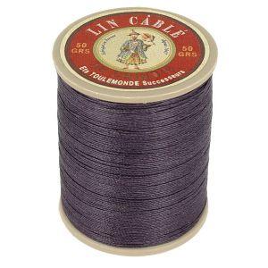 Bobine fil de lin au chinois câblé glacé - 332 - AUBERGINE 346
